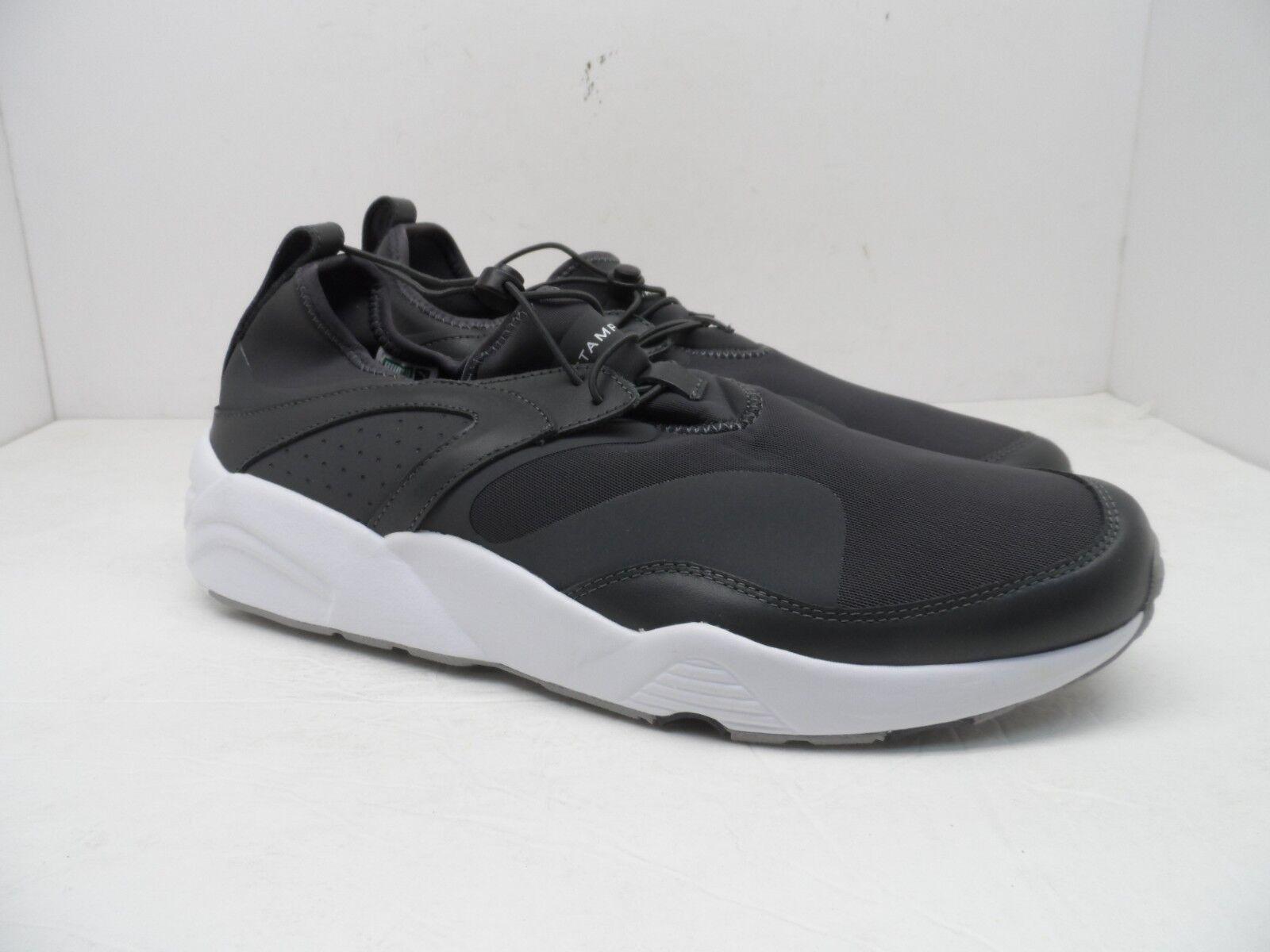 best service 087e5 9676d PUMA X STAMPD Men s BLAZE OF GLORY NU Casual Athletic shoes ASPHALT WHITE  12M