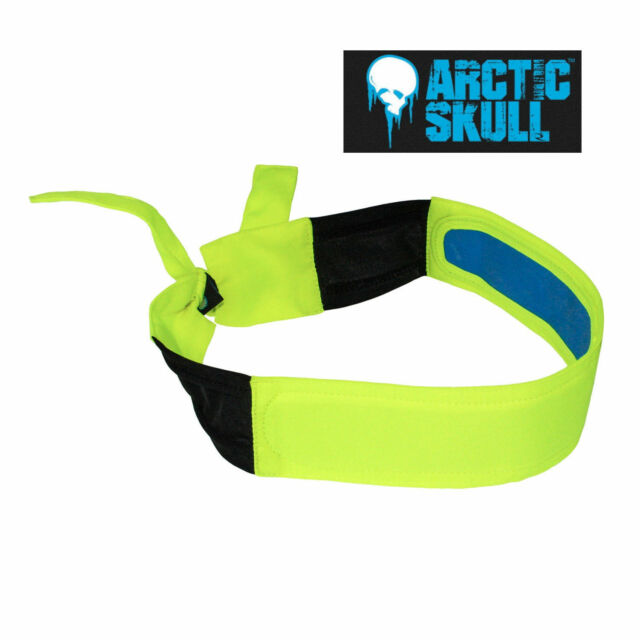 Radians Arctic Skull High Visibility Yellow Cooling Headband Rcs110 for sale online