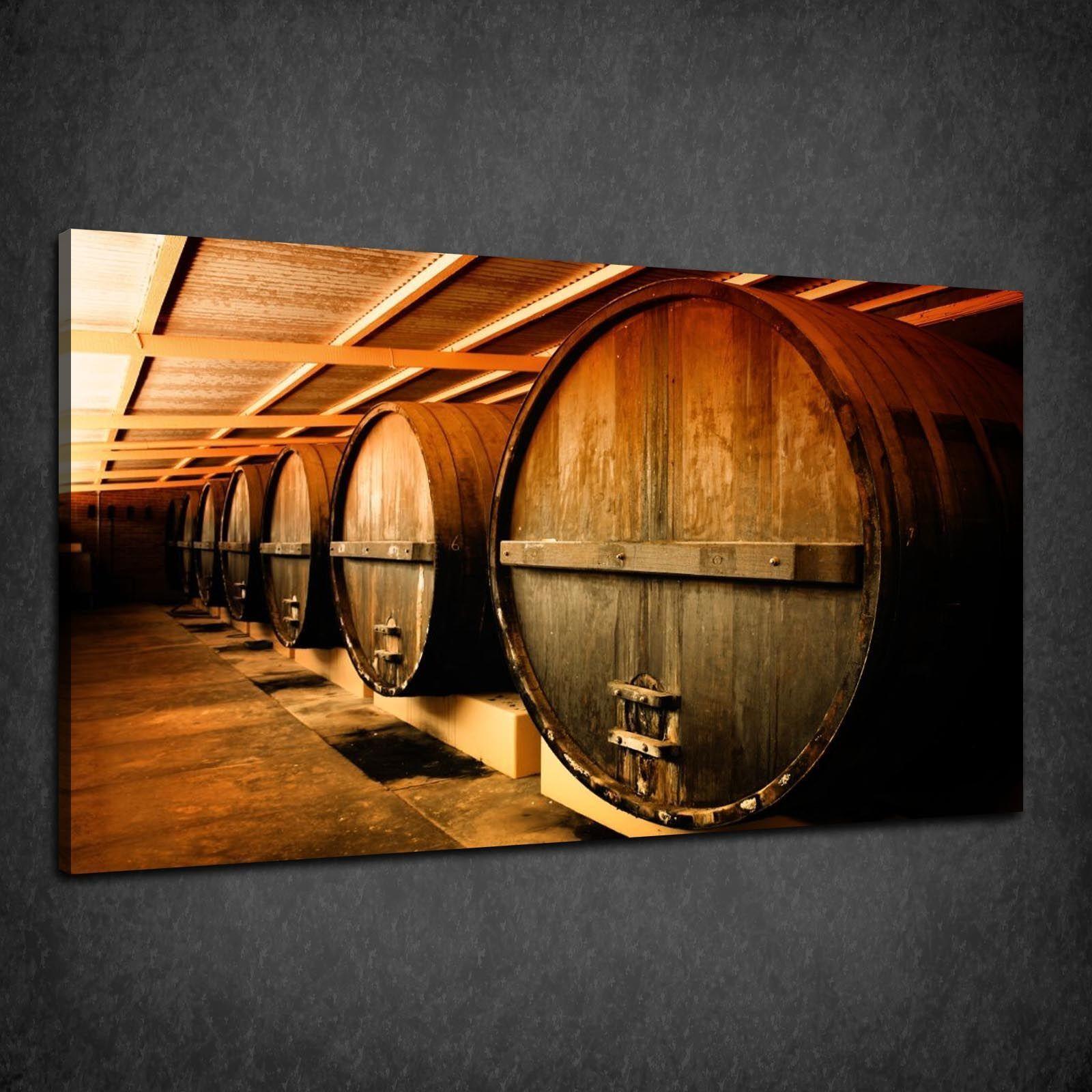 VINTAGE Winery BARILI Retrò Scatola Design Cucina Stampa Tela Wall Art Picture