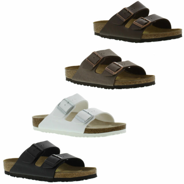 Birkenstock Arizona Womens 552681 White Birko flor Cork Sandals WMNS Size 40