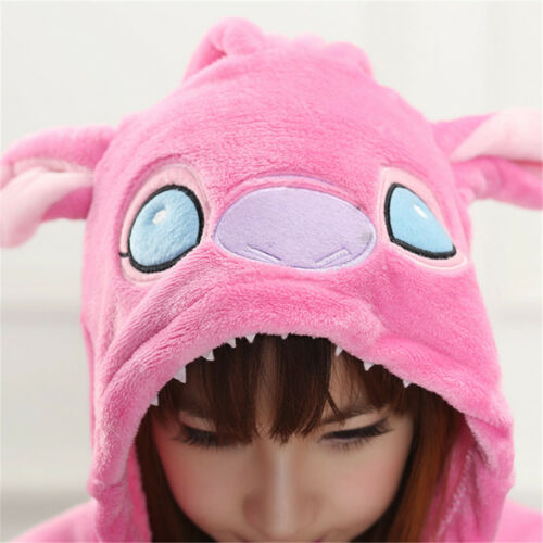 Adult Unisex Animal Kigurumi Pajamas Costume Cosplay Blue//Pink Stitch Angel