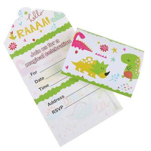 Details About 12pcs Dinosaur Invitation Cards Dinosaur Cards Kids Birthday Party Invitati Tdo