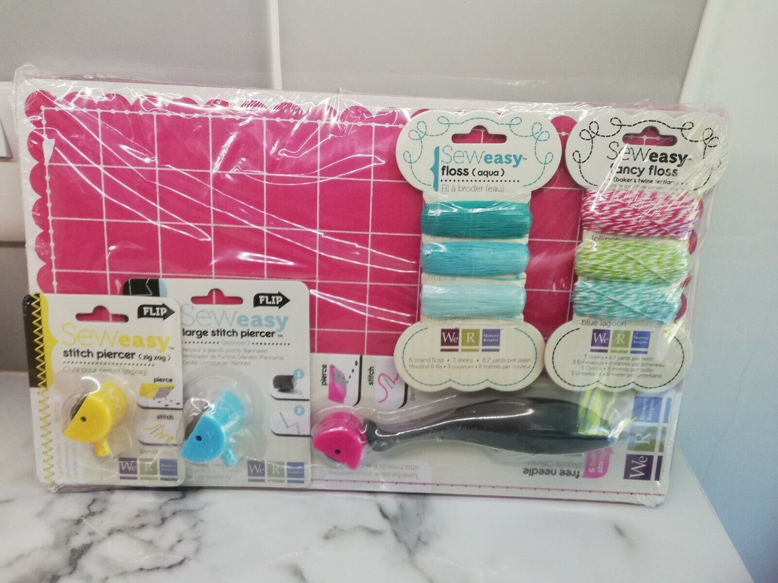 Pink We R Memory Keepers Sew Easy Floss
