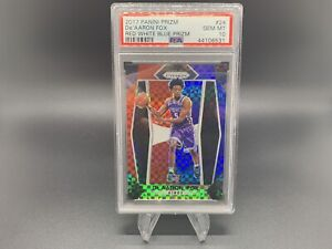 2017-18 Panini Prizm - De'Aaron Fox RC Red White Blue #24 PSA 10 Gem Mint Kings