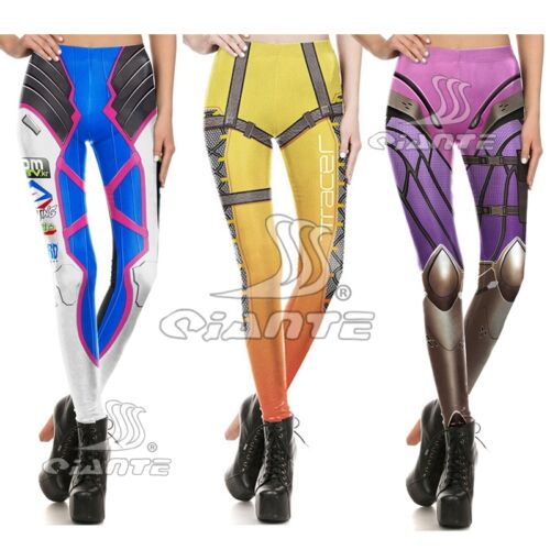 OW  Overwatch DVA Tracer Widowmaker Leggings Cosplay Costume Lycra Yoga Pants