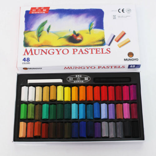 Mungyo Soft Pastels 24 32 48 64 Colors Set Half Length Square Vivid Crayon a