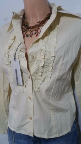 Gio' Originale Frenci Cotone Elastica Ecru' Camicia Donna 42 Neutra Misura q8xCz04R