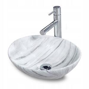 Sofia N Lgrey Lavabo Vasque A Poser Ceramique Gris Grey Ovale