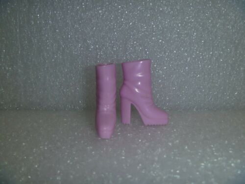Light Pink High Heel Dress Boots With Grooved Soles Barbie Shoes