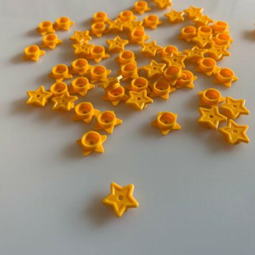 50 NEW LEGO Flame Yellowish Orange Star Symbol W// Tube And Hole Ø1.5 6167776