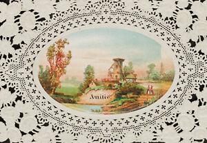 Gepraegte-und-gestanzte-Freundschaftskarte-um-1900-Chromolithographie