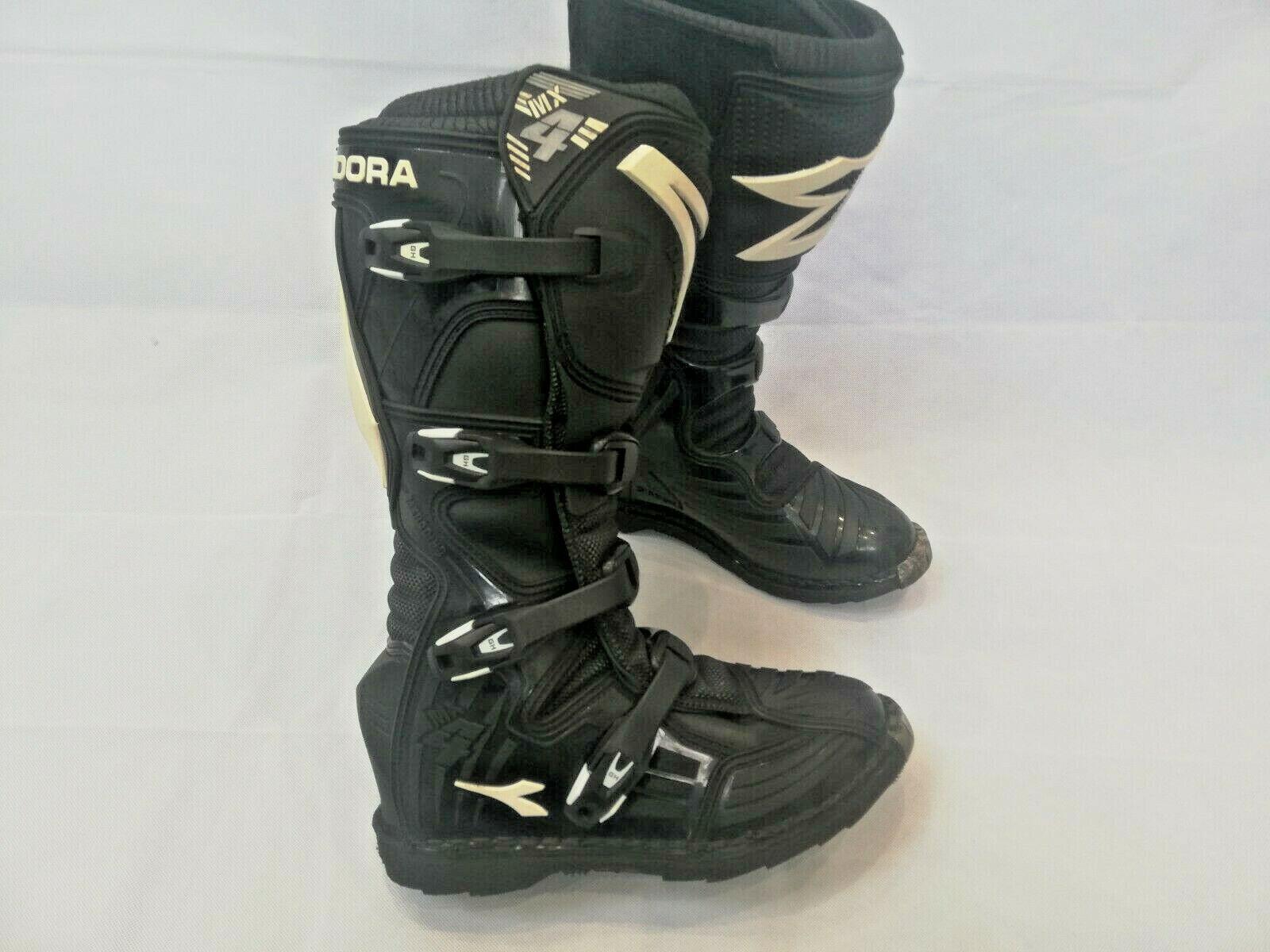 Genuine DIADORA MX4 MOTOCROSS BOOTS IN BLACK UK8 EU42