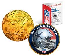 DALLAS COWBOYS NFL LICENSED 24K Gold Plated IKE Eisenhower Dollar U.S. Coin