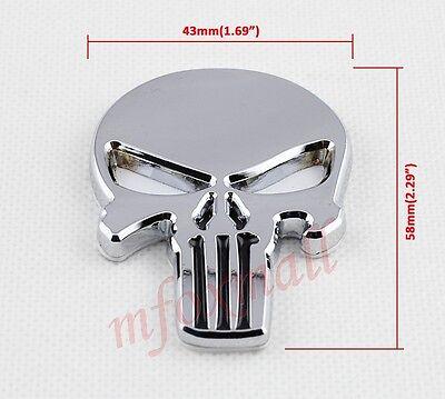 Auto Accessories 3D Chrome Skull Pirate Head Emblem Badge Sticker Decal Trim