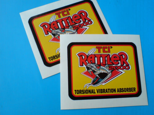 TCI RATTLERCar Toolbox Stickers Decals 2 off 85mm