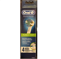 4 Oral-b Floss Action Triumph Replacement Toothbrush Tooth Brush Heads Pack