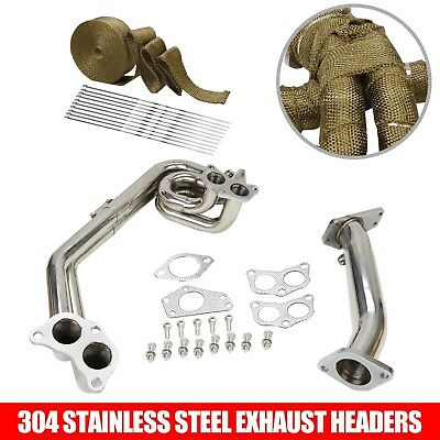 Exhaust Manifold Header /& UpPipe FITS 08-17 Subaru Impreza WRX//STi EJ25 2PC New
