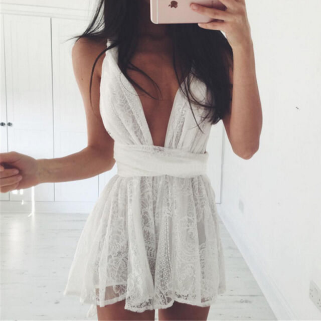 Sexy Women's Bodycon Summer Casual Party Evening Cocktail Lace Short Mini Dress