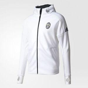 Dettagli su Adidas Juventus Anthem Z. N. E. Felpa con Cappuccio Zne BiancoNero