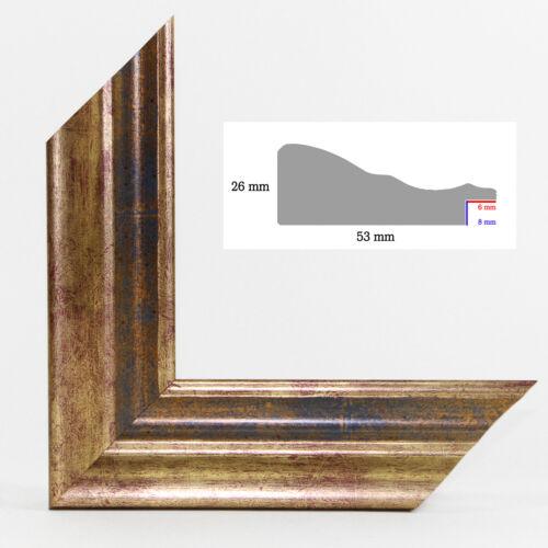 "Antireflex Acrylglas NEU Holz Bilderrahmen Barock /""HEBRON/"" 59,4x84,1 cm DIN A1"