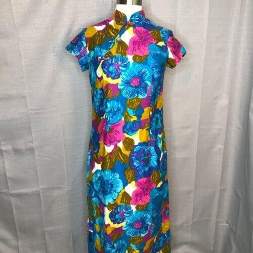 Sun Fashions of Hawaii Vintage Cheongsam Dress