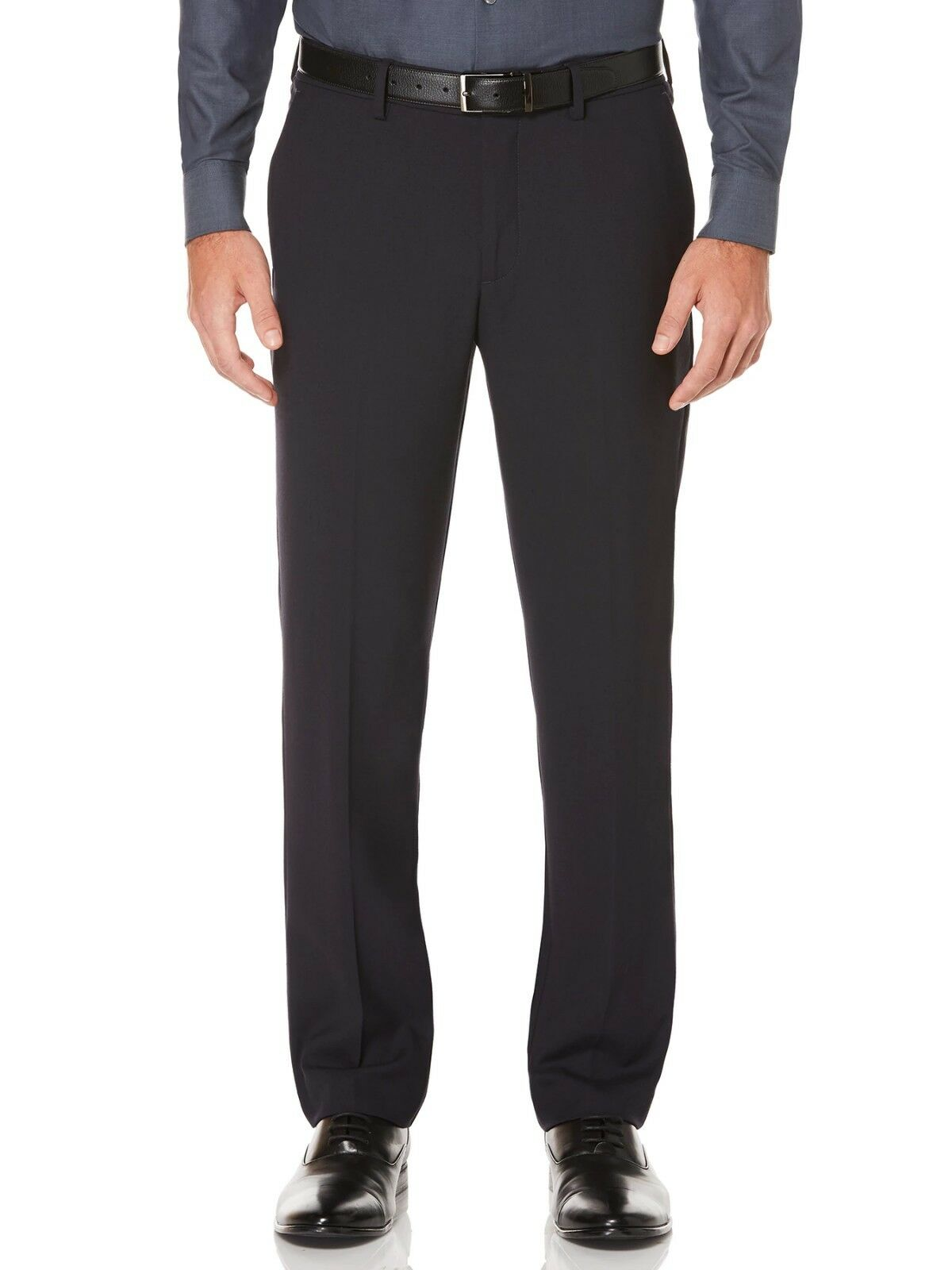 PERRY ELLIS PORTFOLIO men blueE SLIM FIT FLAT FRONT SUIT DRESS PANTS 29W 30L