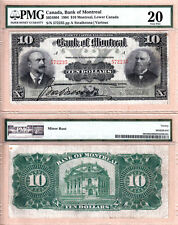 Scarce 1904 $10 Bank of Montreal issued note PMG VF20, 505-48-04