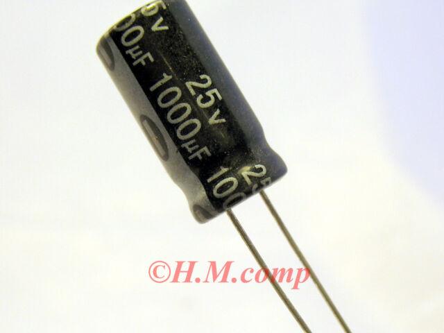 25V 1000uF 105°C electrolytic radial Capacitor X10pcs D