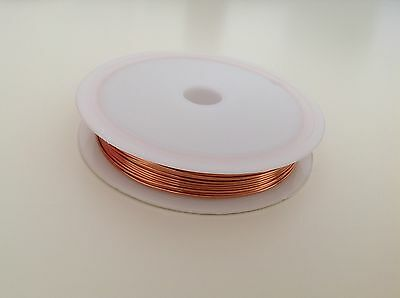1 Reel 0.2- 1mm Wire jewellery making wrapping tiara beading Brass Copper UK