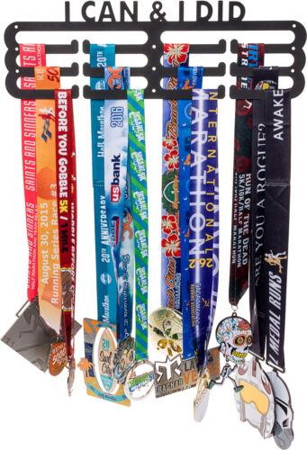 "LISH /""I Can /& I Did/"" Runners Inspirational Marathon Medal Hanger Display Holder"