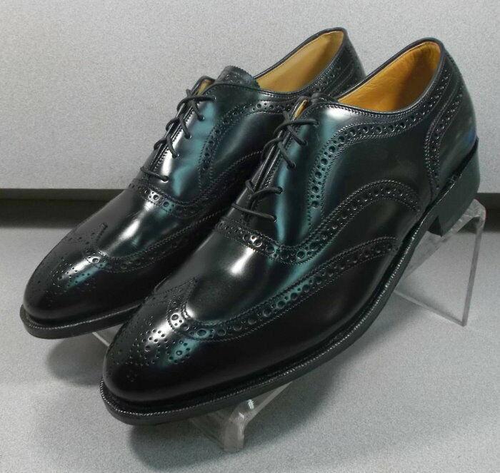 2408555 MS50 Men's Shoes Size 12 D/B Black Leather Lace Up Johnston & Murphy