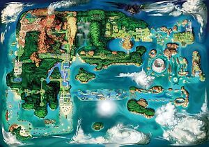 Details about Pokemon Region Map - Beautiful HD Wall Poster - 34 in on pokemon world map and locations, pokemon white version map, minecraft pokemon soul silver map, pokemon crystal map, pokemon soul silver rom, all pokemon regions world map, pokemon unova map, pokemon black route 10, pokemon xy, pokemon kalos region, pokemon town map, pokemon mount moon map, pokemon kanto map, pokemon gold map, pokemon laverre city gym map, pokemon y trailer, pokemon black map, pokemon diamond, pokemon y pokemon, pokemon pearl map,