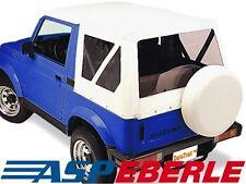 Verdeck Softtop Ersatzverdeck Top Dach Suzuki Samurai SJ410 + SJ413 82-03 weiß