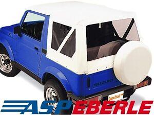 Verdeck-Softtop-Ersatzverdeck-Top-Dach-Suzuki-Samurai-SJ410-SJ413-82-03-weiss