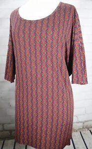 LuLaRoe-IRMA-Tee-Tunic-Top-Red-Blue-Circle-Print-Women-039-s-Plus-Size-XL-20-22