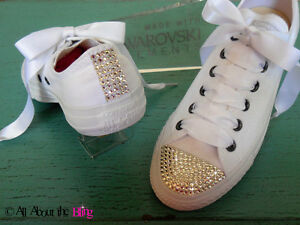 d905b33a7f6f Image is loading CONVERSE-ALL-STAR-MONOCHROME-WHITE-WITH-SWAROVSKI-CRYSTALS-