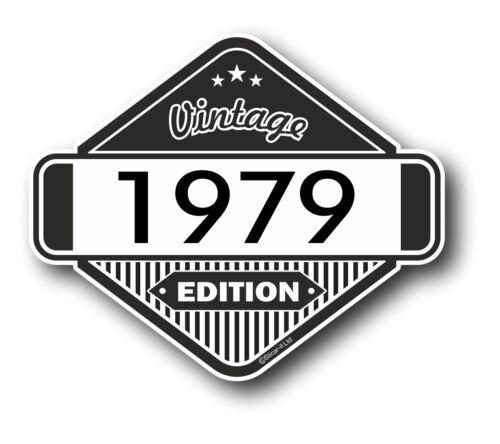 Vintage edition 1979 rétro classique cafe racer style vinyle moto autocollant voiture