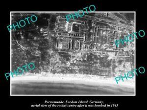 OLD-POSTCARD-SIZE-PHOTO-PEENEMUNDE-GERMANY-THE-V2-ROCKET-STATION-BOMBING-1943-1