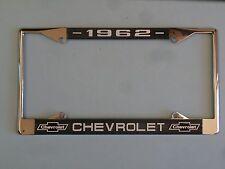 62 1962 Chevy car truck Chrome license plate frame