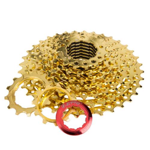 9s 27s Speed Bike Freewheel Cassette Bicycle Golden Flywheel 11-36T for Shimano