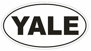 YALE-Oval-Bumper-Sticker-or-Helmet-Sticker-D1829-Euro-Oval-University