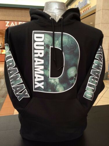 Duramax Hoodie Pullover Skull Design Chevi Truck Front Back