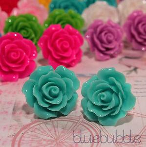 Gran-Vintage-Tallada-22mm-Rose-pendientes-Boda-favor-Novia-Dama-De-Fiesta-del-Reino-Unido