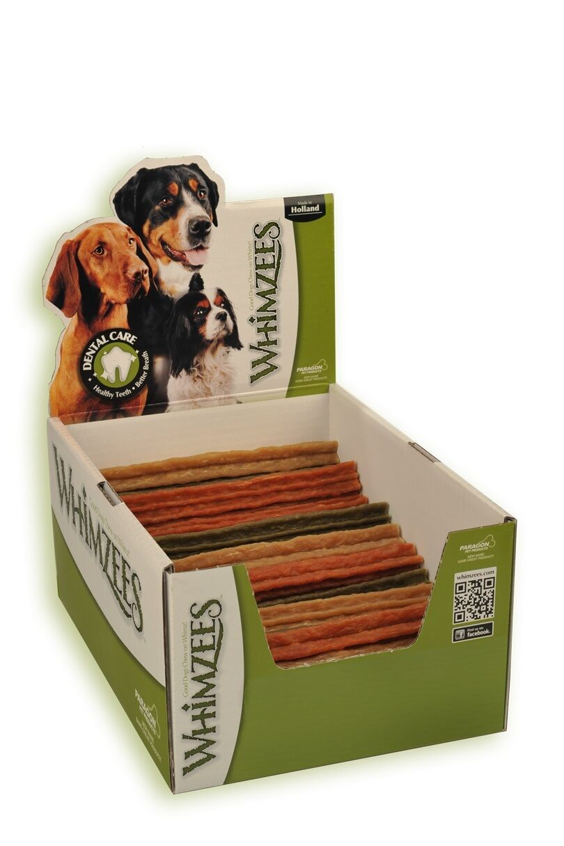 BOXED Whimzees Stix 180mm Large, 50pcs Vegetable Chew  NEW LOWER PRICE