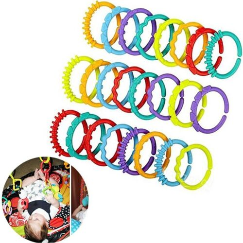 Baby Rainbow Rattle Teether Ring Crib Stroller Decor Hanging Toys Child Cute Toy