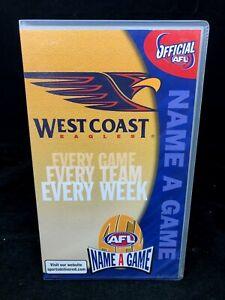 AFL-NAME-A-GAME-VHS-WEST-COAST-EAGLES-vs-CARLTON-BLUES-VHS