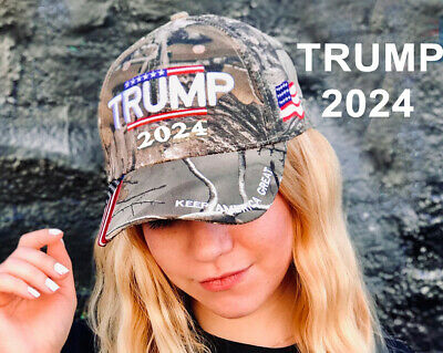 Donald Trump 2024 Cap Camouflage USA Flag Baseball Caps Keep America Great Again President Hat 3D Embroidery