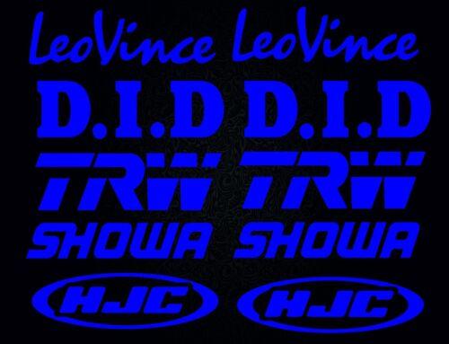 SHOWA-HJC-TRW-LeoVince-DID-high quality Set of stickers blue SK-161