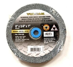Details About Vulcan 6 Bench Grinder Grinding Wheel Stone 3 4 Thick Medium Emory A O 2078