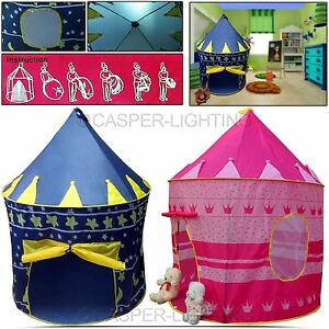 Childrens-Girls-Kids-Pop-Up-Castle-Play-Tent- & Childrens Girls Kids Pop Up Castle Play Tent Toy Fairy Play House ...